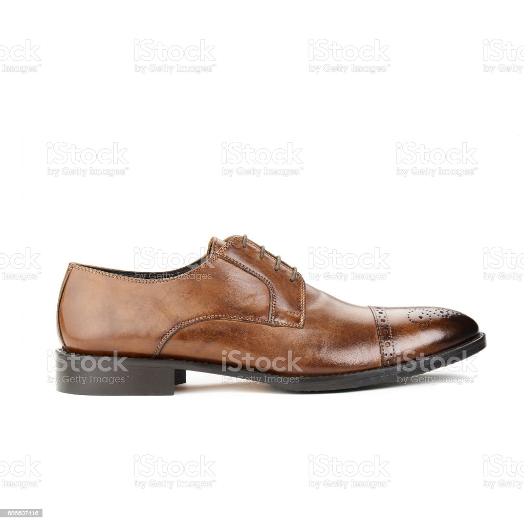Studio shot of classic male shoe royalty-free stock photo