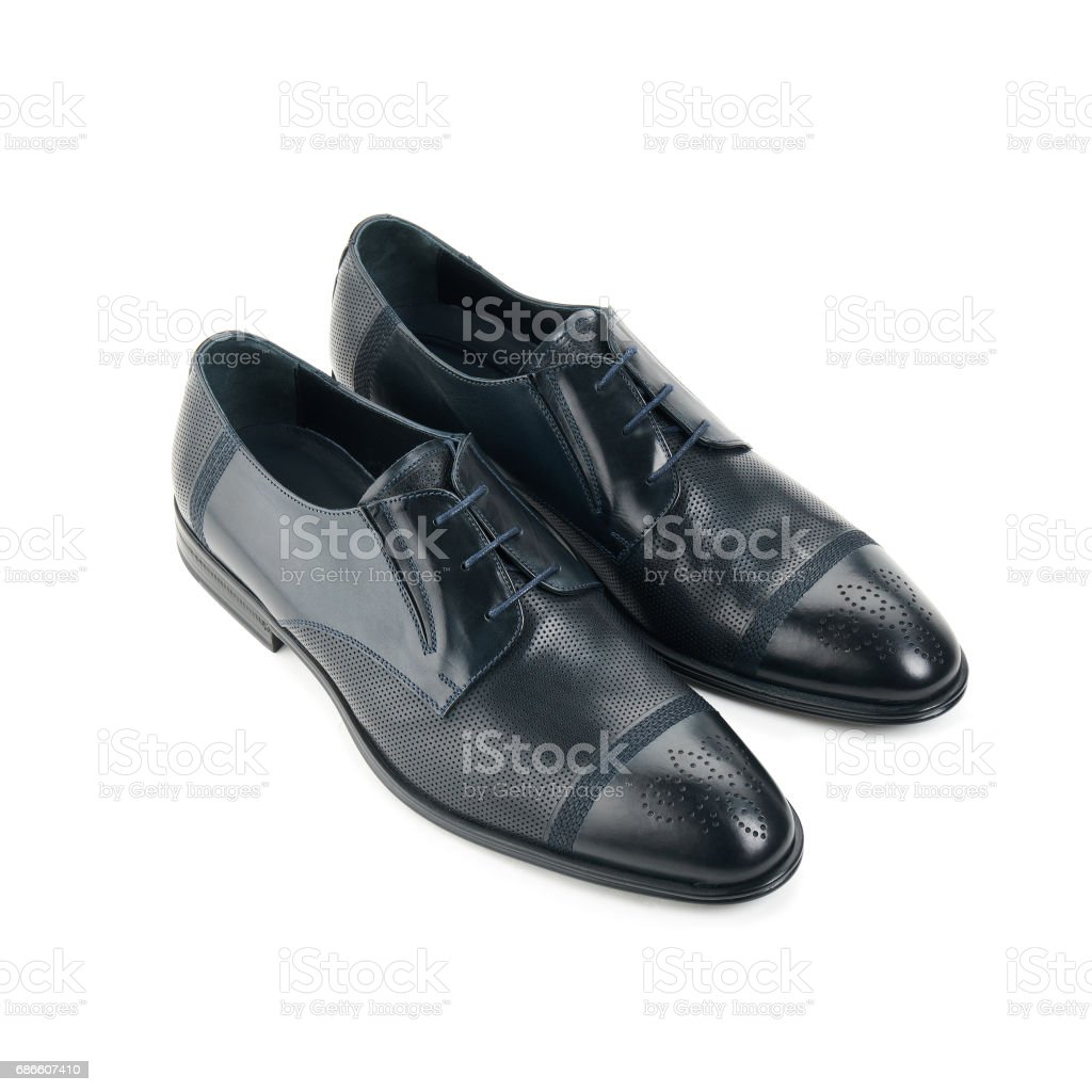 Studio shot of classic male shoes royalty-free stock photo