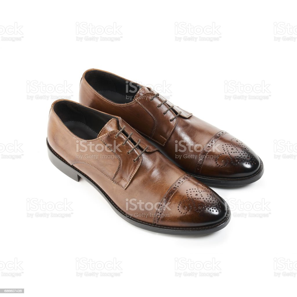 Studio shot of classic male shoes 免版稅 stock photo