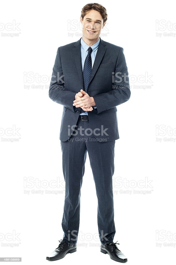 Studio shot of handsome corporate guy stock photo
