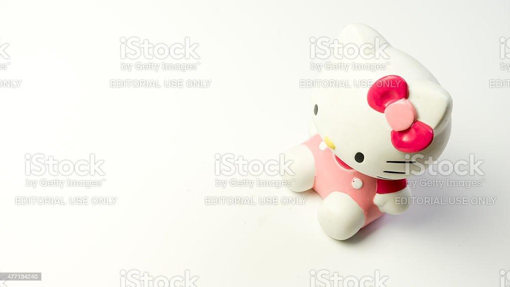 Studio shot of Hello Kitty figure, fictional character by Sanrio stock photo