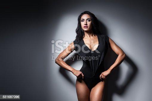 618330244istockphoto studio shot of perfect body of bodybuilder female; 531687096
