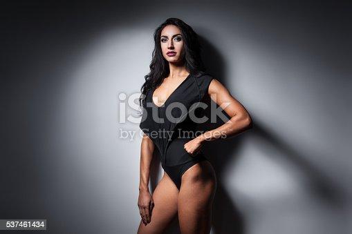 618330244istockphoto studio shot of perfect body of bodybuilder female; 537461434
