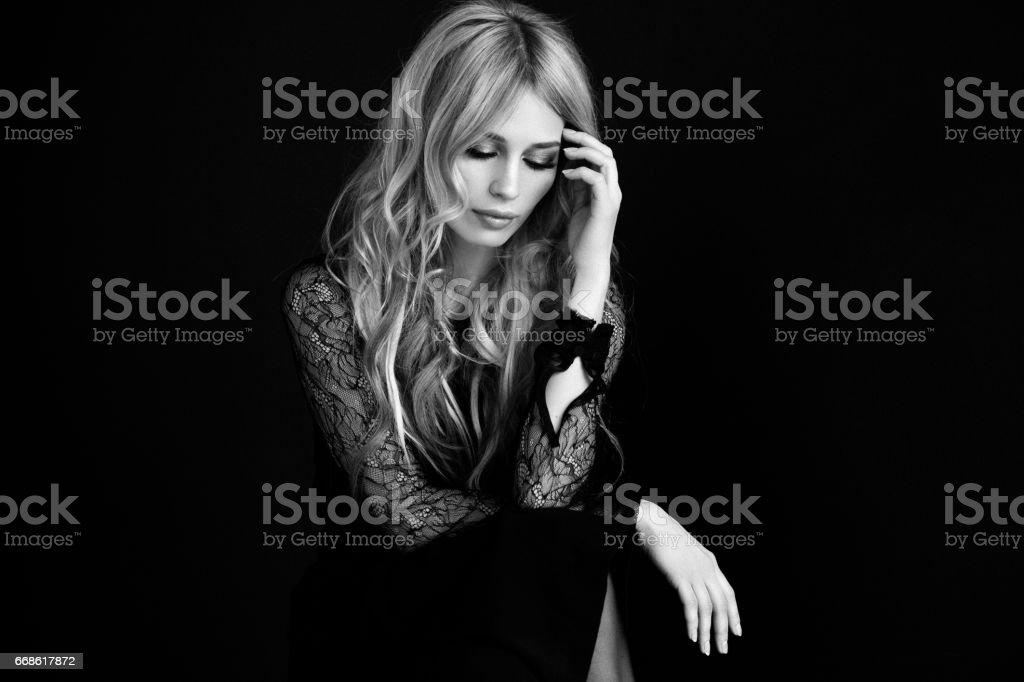 Studioaufnahme von sinnlichen Mädchen – Foto