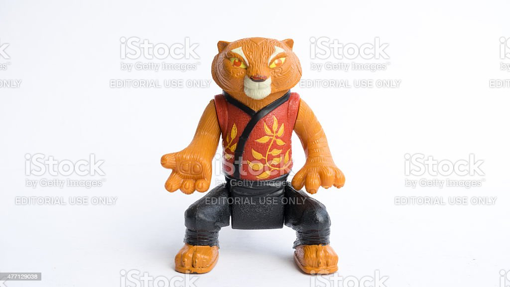 Studio Shot Of Tigress From Kung Fu Panda Animated Movie Stock Photo