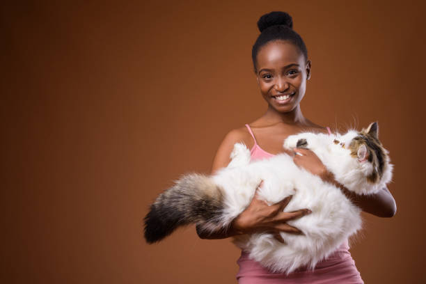 Studio shot of young beautiful african zulu woman holding cute cat picture id862257966?b=1&k=6&m=862257966&s=612x612&w=0&h=icah2vml5uzrnxufgojdbakfavylfpo0ksbxzc9ptlk=