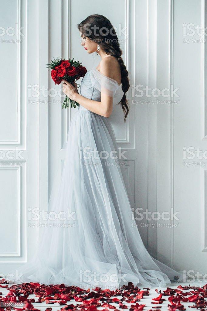 Prise de vue en Studio de jeune Belle mariée - Photo