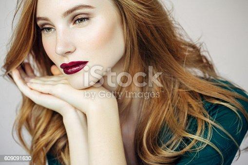 611310330istockphoto Studio shot of young beautiful woman 609091630