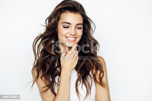 istock Studio shot of young beautiful woman 898239824