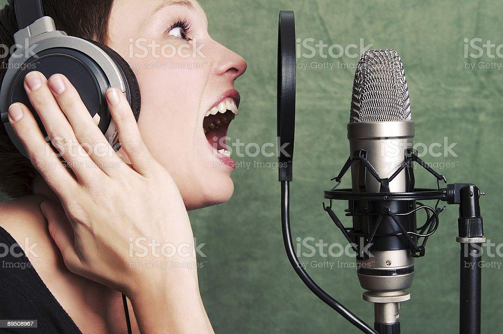Studio Singer royalty-free stock photo