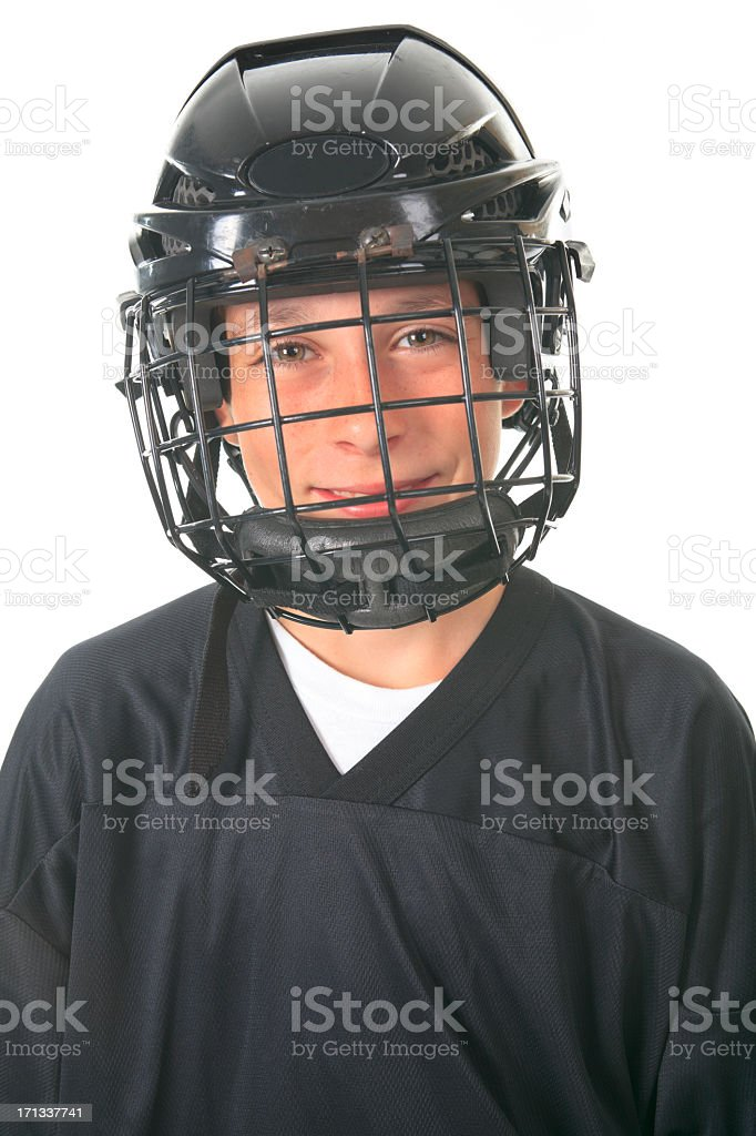 Studio Street Hockey - Player Smile royalty-free stock photo