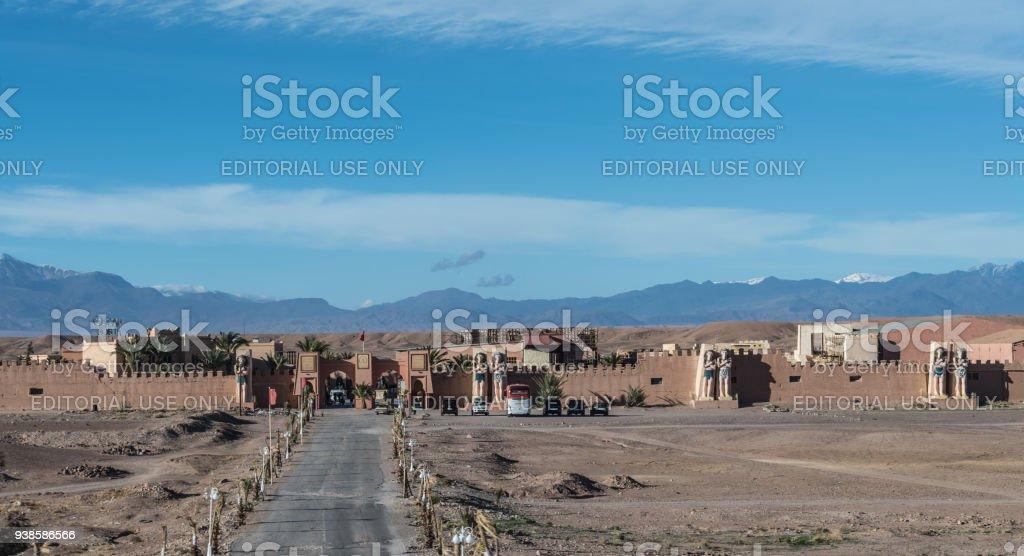 CLA Studios Exterior in Western Sahara, Morocco stock photo
