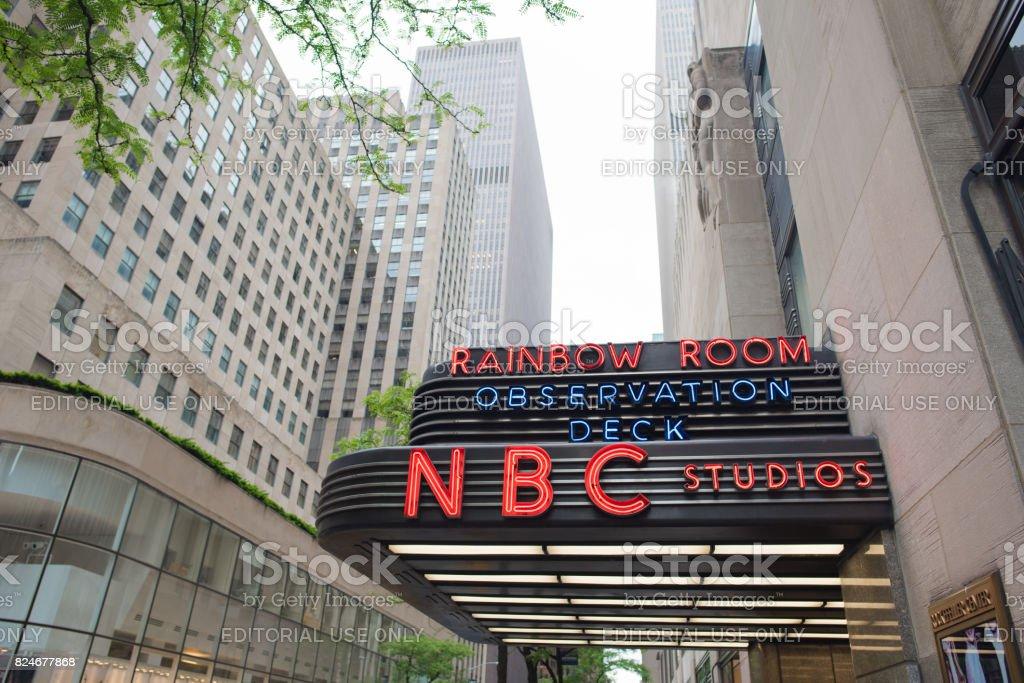 NBC Studios in Rockefeller Center stock photo
