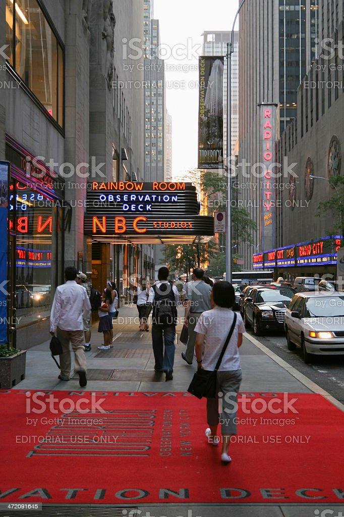 NBC Studios New York stock photo