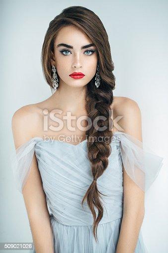 istock Studioshot of young beautiful woman 509021026