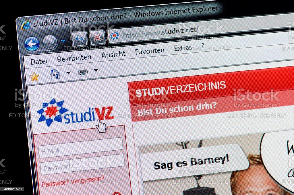 studiVZ - Macro shot of real monitor screen stock photo