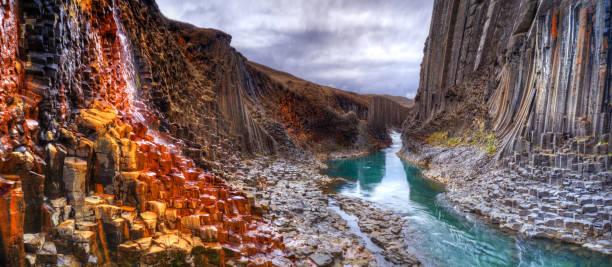 Studlagil Basalt Canyon, Island – Foto