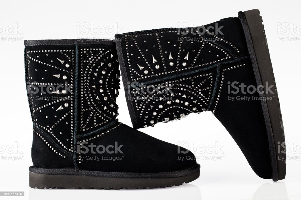UGG studs boots stock photo
