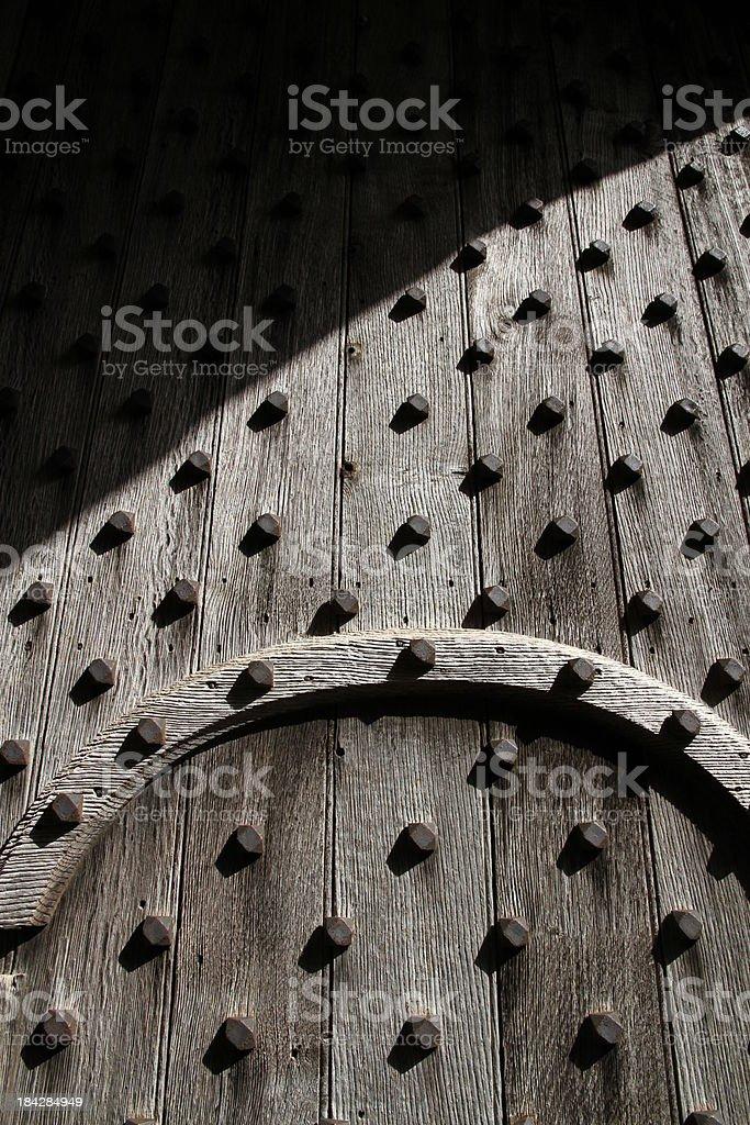 Studs in Door stock photo