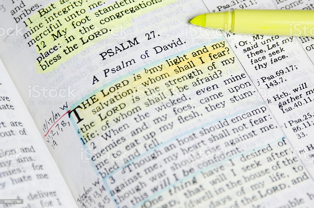 Study Bible stock photo