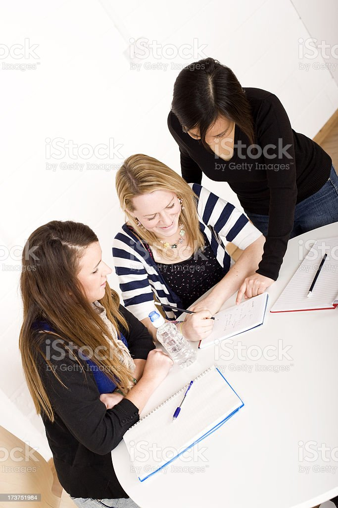Study group royalty-free stock photo