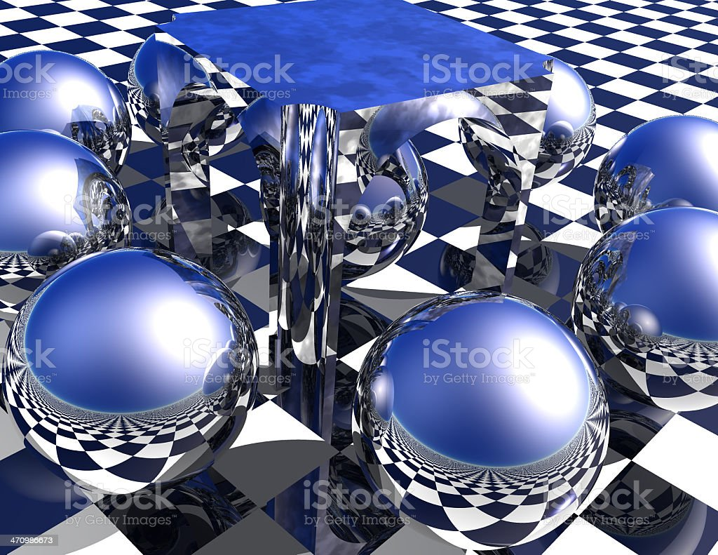 A Study in Spherical Reflection royalty-free stock photo