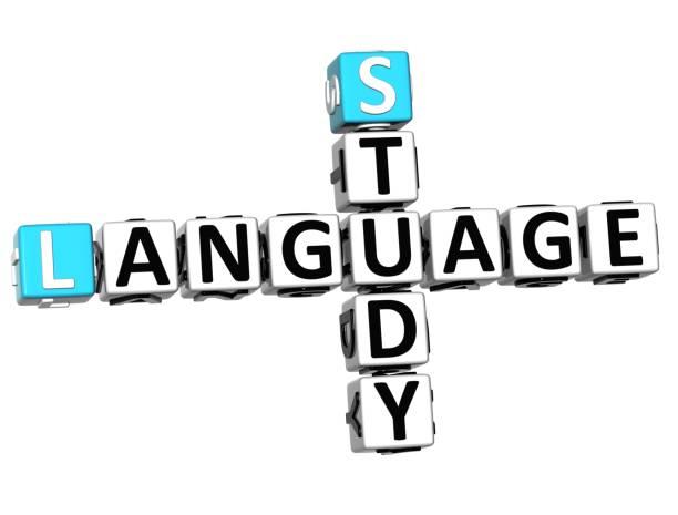 3d studie sprache kreuzworträtsel - kreuzworträtsel lexikon stock-fotos und bilder