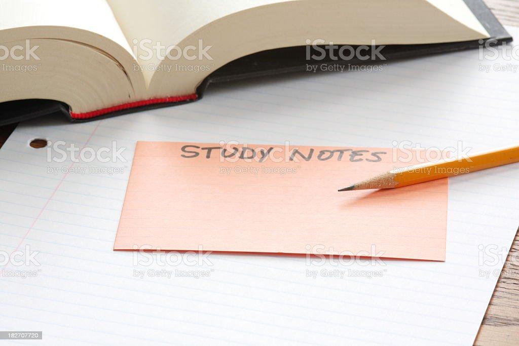 Study Notes royalty-free stock photo