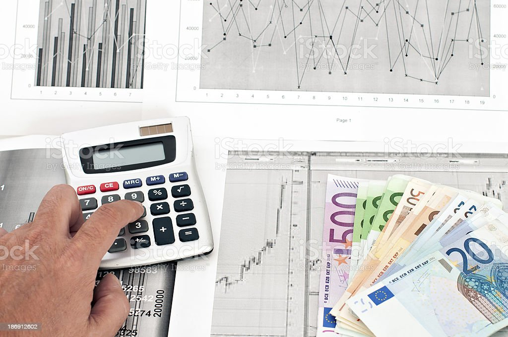 Study of financial opportunities royalty-free stock photo