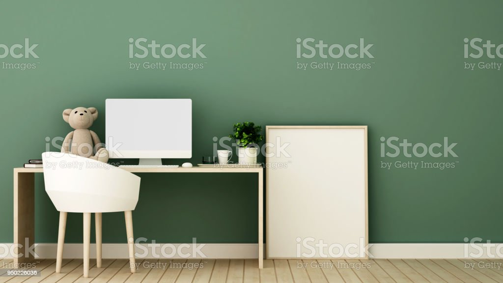 Study Room And Frame Picture For Artwork Kid Room Or Office ...