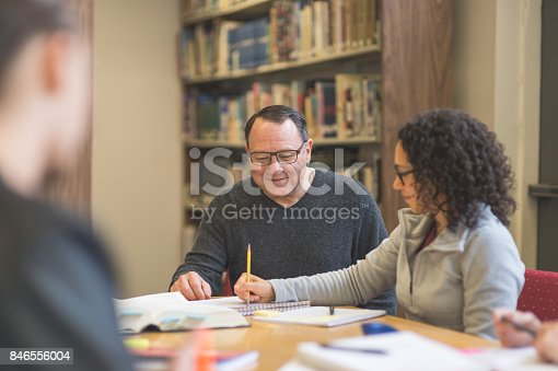 istock Study session in library 846556004