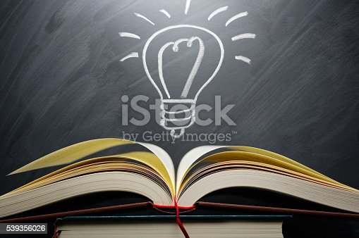 istock Studying and knowledge. Turn on the light bulb. 539356026
