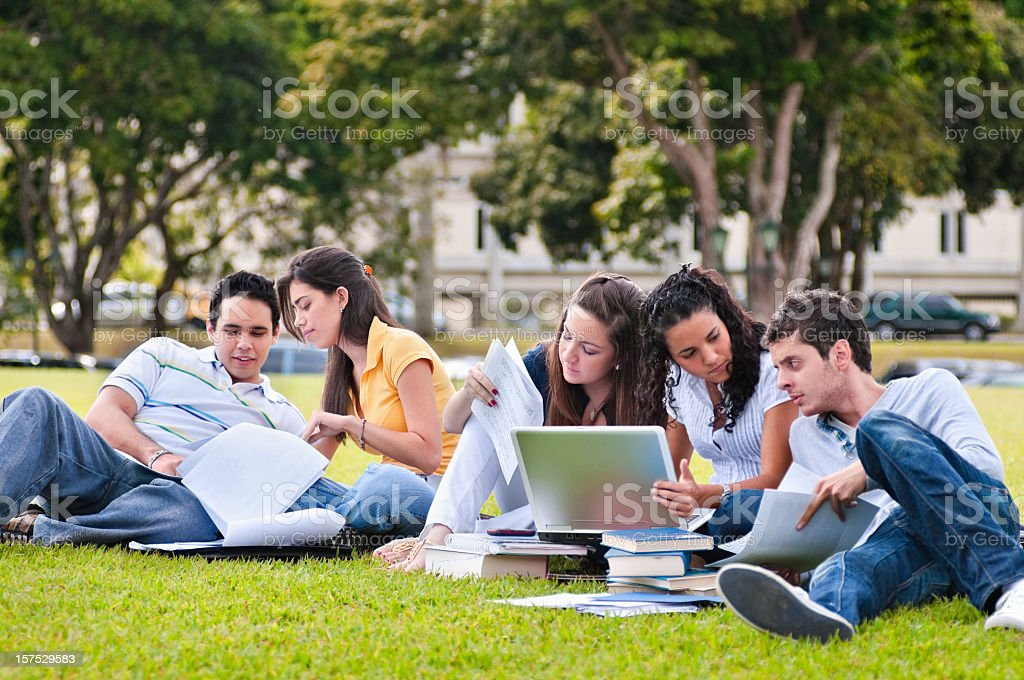 Studying at the Campus stock photo