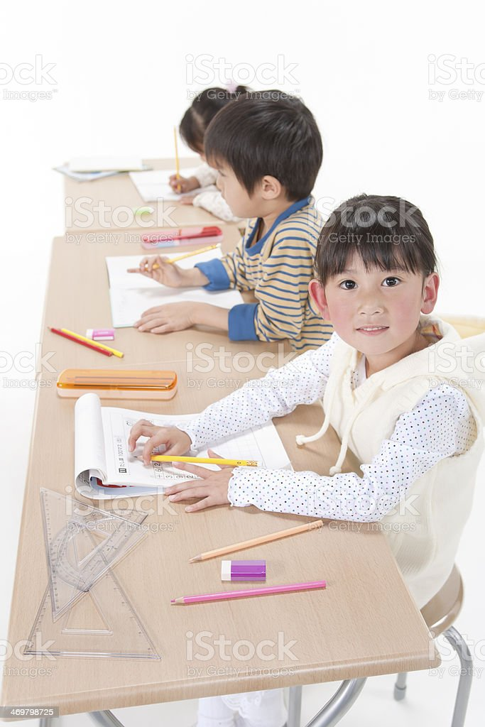 Studying children royalty-free stock photo
