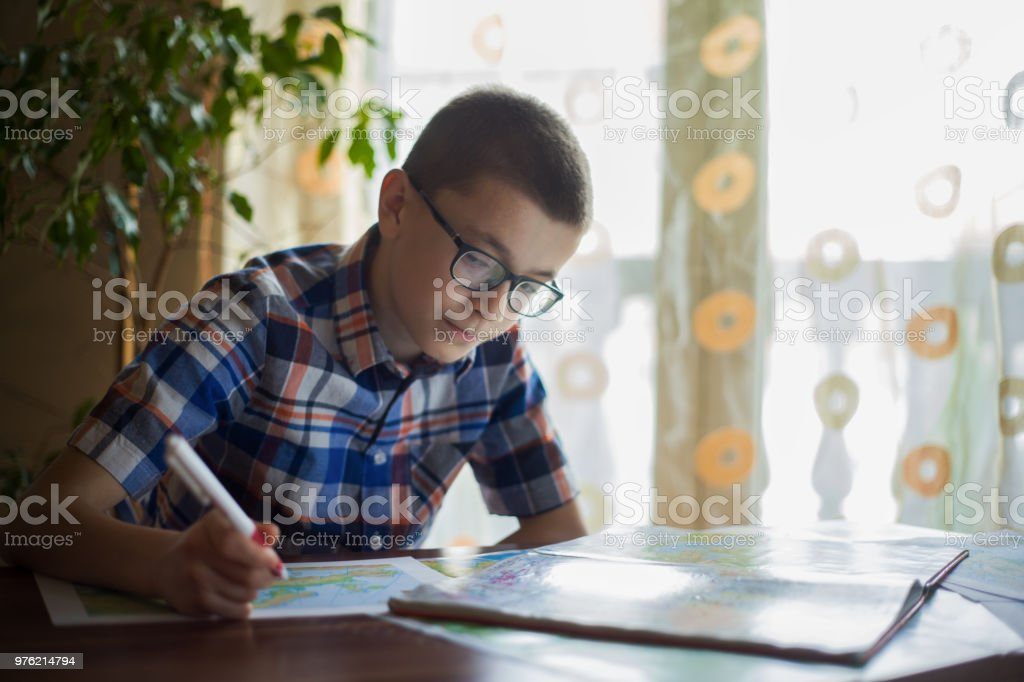 Studying from home stock photo