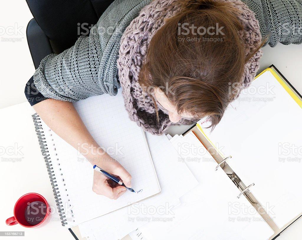 Studying girl royalty-free stock photo