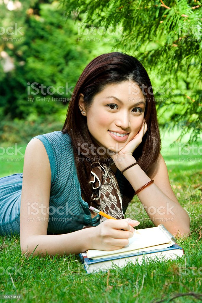 Studying girl royalty-free stock photo