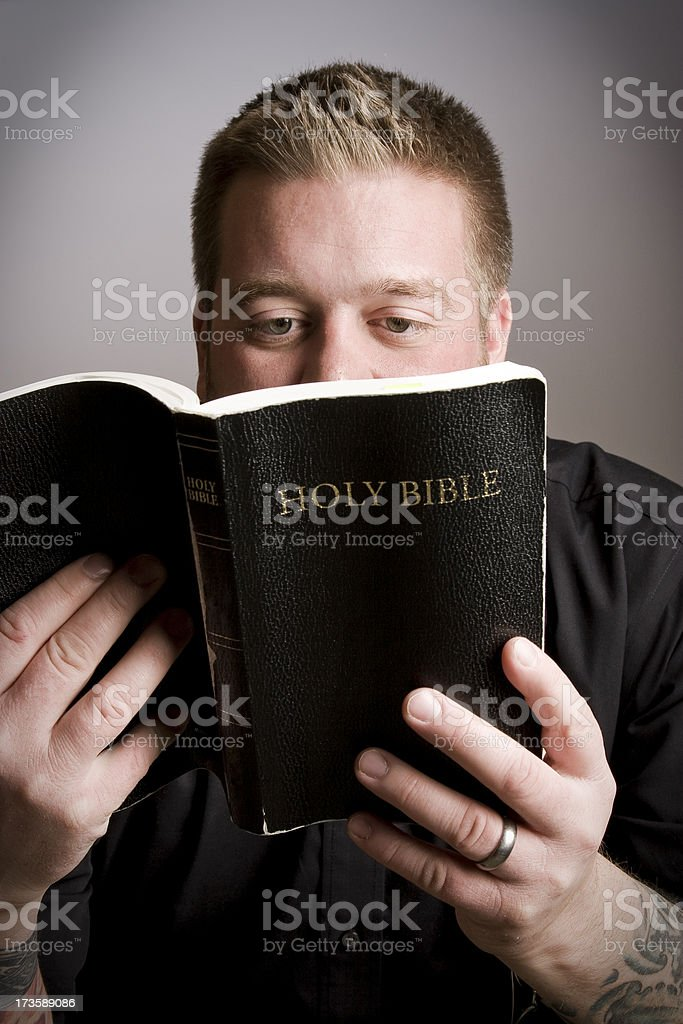 Studying God's Word royalty-free stock photo
