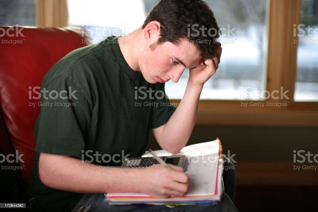 Studying Hard stock photo