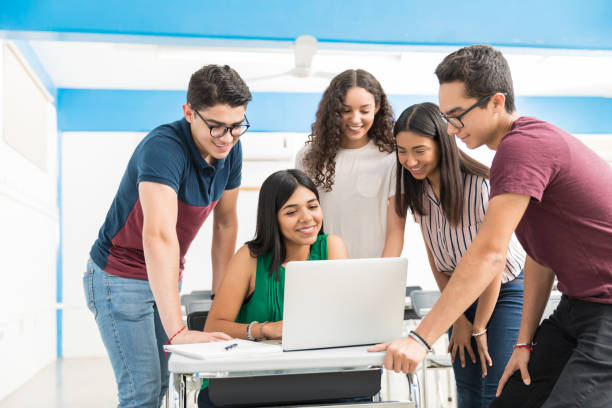 Studying In A Group Makes Learning Easier stock photo