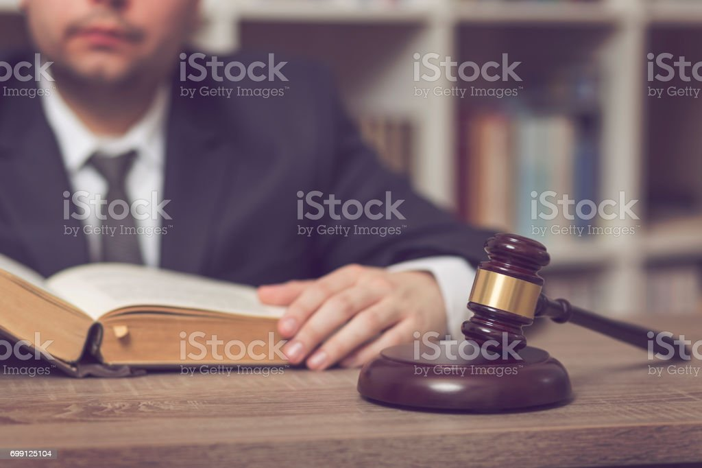 Studying law stock photo