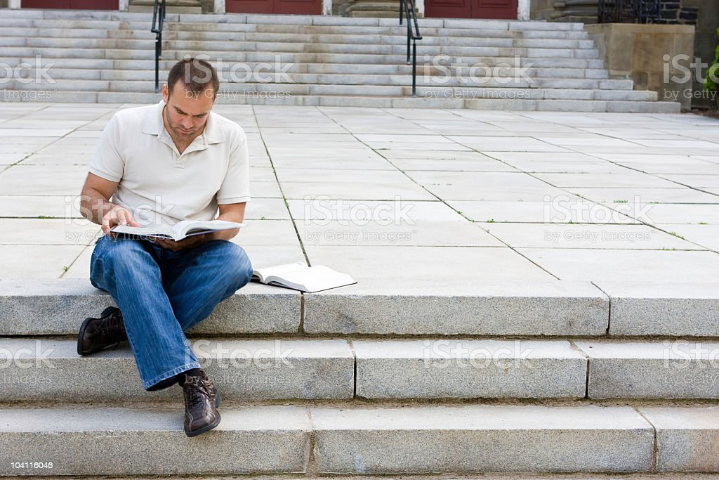 Studying On Campus royalty-free stock photo