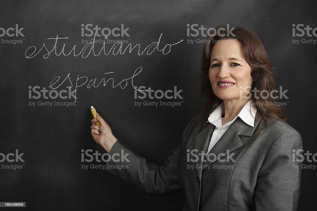 studying spanish royalty-free stock photo