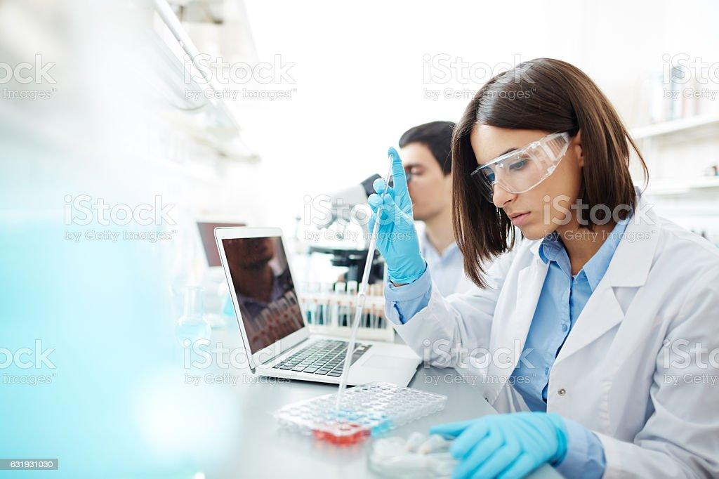 Studying substances ロイヤリティフリーストックフォト