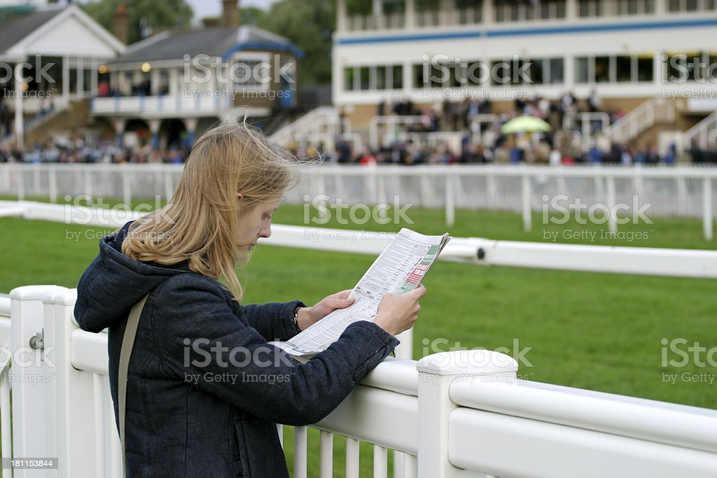 Studying the form stock photo