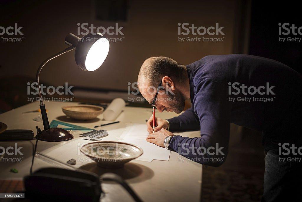 Studyng archeology stock photo