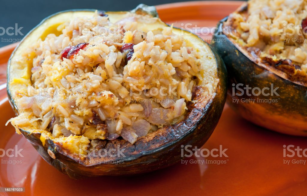 Stuffed Acorn Squash royalty-free stock photo