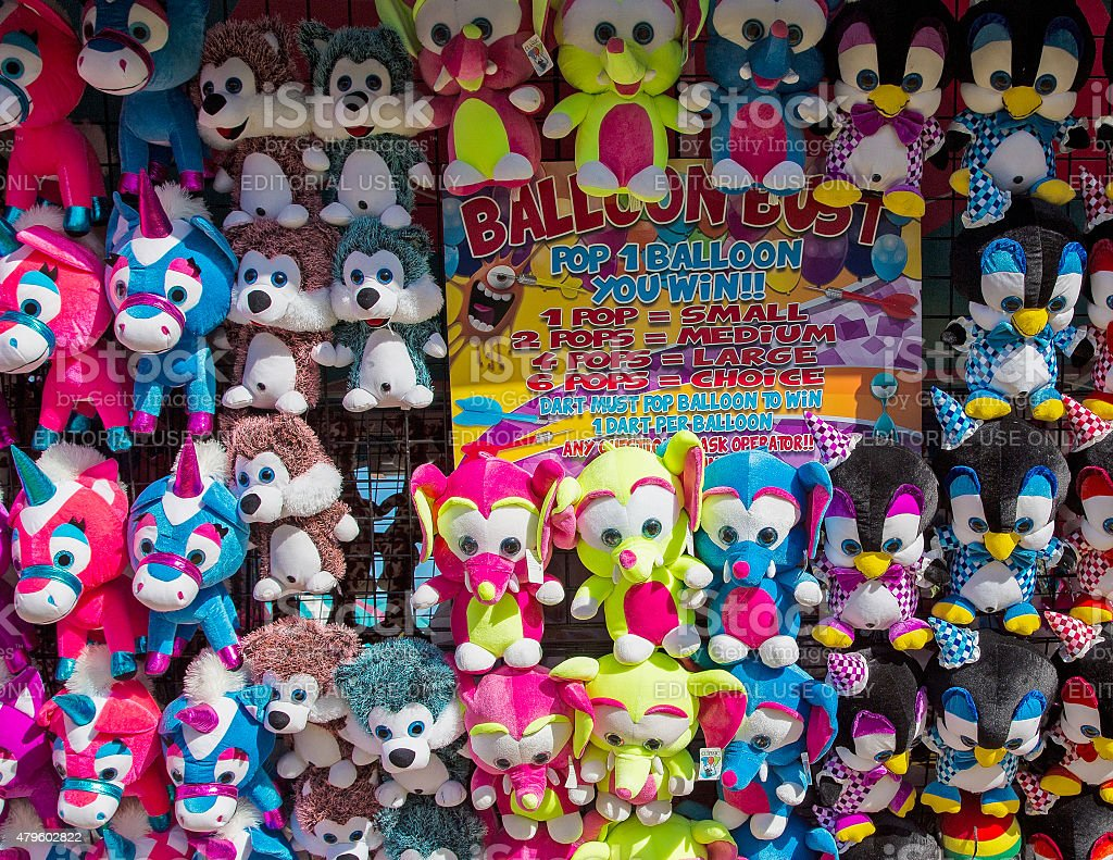 Stuffed Animals on the Midway stock photo