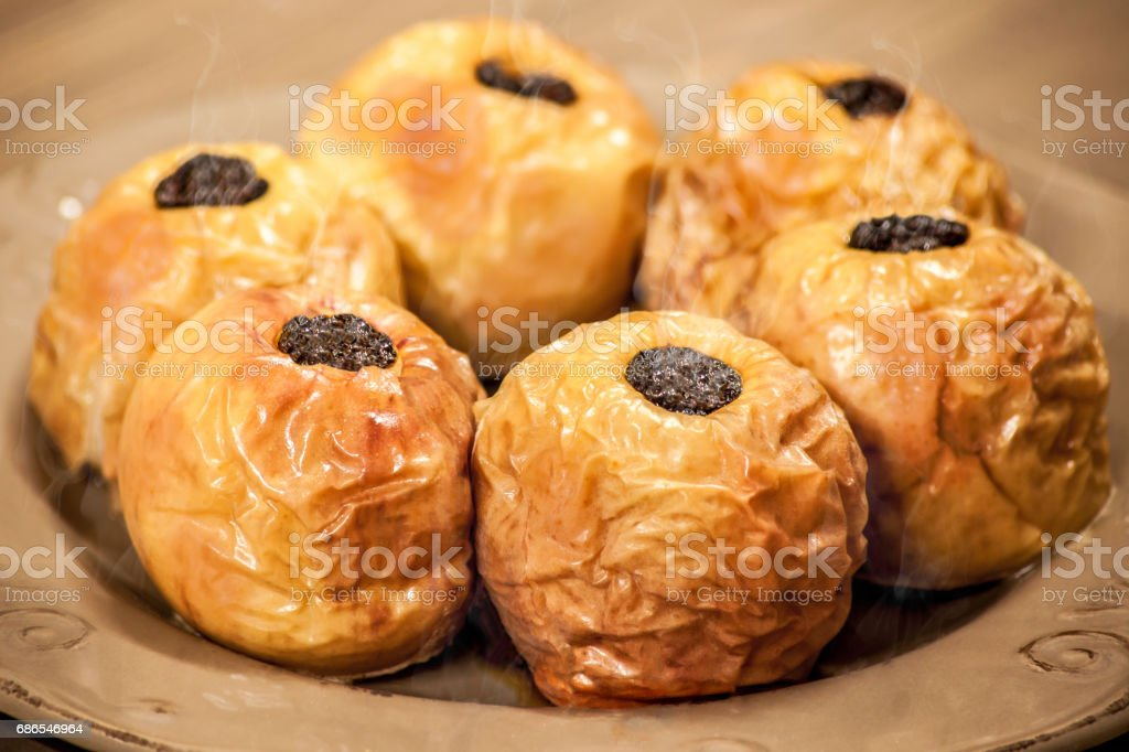 Stuffed Baked Apples Steaming hot foto stock royalty-free