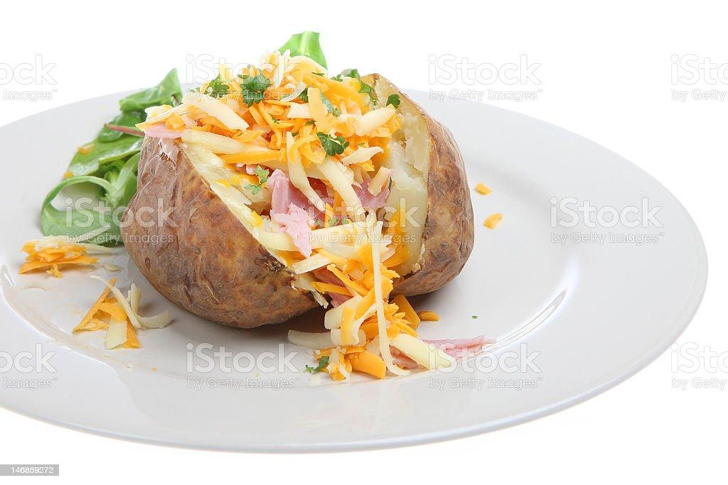 Stuffed Baked Potato stock photo